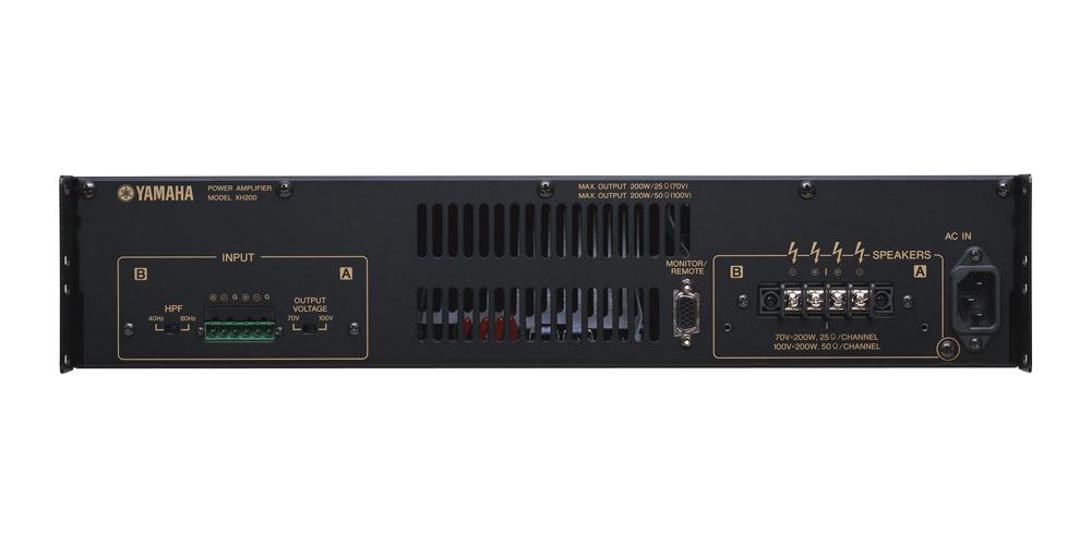 XH200是用于剧院、大厅、会议厅等场所固定安装的分布式功放,可以连接多个高阻音箱。 除了异常轻的重量,XH200还具备紧凑的2U外观,能够方便地固定安装在任意场所。 这个结合了高输出功率和小体积的系列产品,具有先进的电功率转换机制。 XH200还具备监控/遥控接口,可以从外接设备监控并操作。