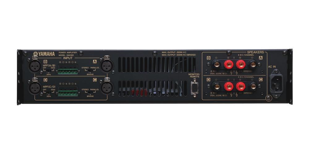 XM 系列多通道功放是剧院、大厅和会议室固定安装的理想选择。 该系列提供80W x 4 和 180W x 4型号,符合大量固定安装系统的要求。 XM功放为轻巧的2U设计,重量异常轻盈,使之非常适合搬运和安装。 它的电功率转换能力强大,同时体积轻小。 XM 配备了监控/遥控接口,可以连接外接控制设备,从远程进行状态监控和操作。