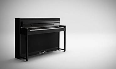 将乐谱架从键盘位置移回原