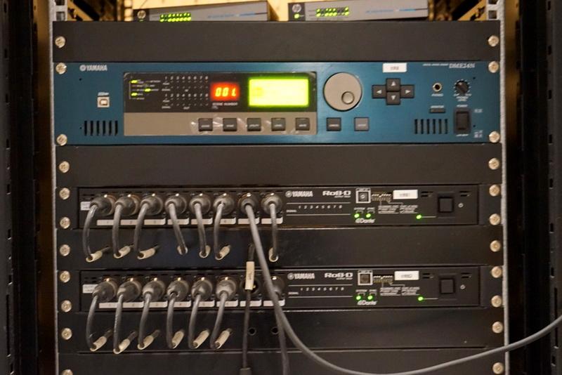 dme24n数字混音引擎以及ro8-d dante协议接口箱