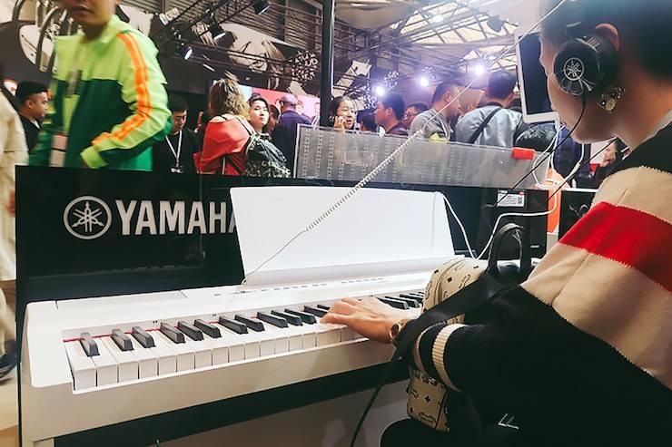雅马哈电子键盘乐器 雅马哈展区